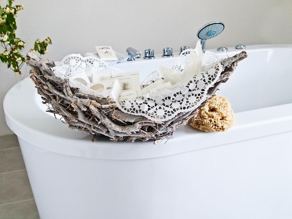 Badezimmer Ideen im Shabby Chic